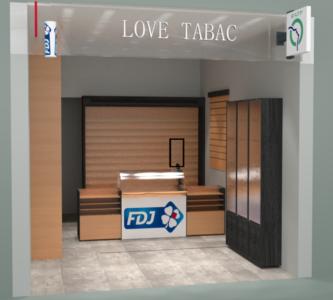 Architecture d'intérieur rendu 3D commerce
