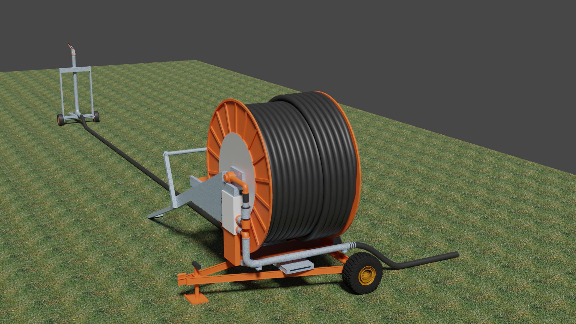 enrouleur agricole, pour une série animée 3D