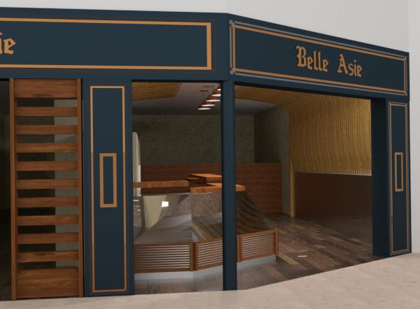 Restaurant rendu 3D