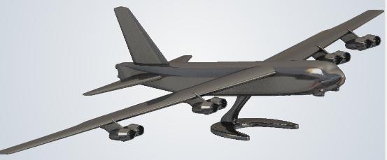 fichier 3D B 52 maquette impression 3D